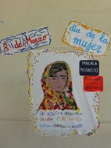 Mural de Malala, Recordada el día de la Paz