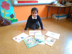 Naomi y sus dibujos de los cuentos.. On el dragón, Musgoso y Mandreuta.